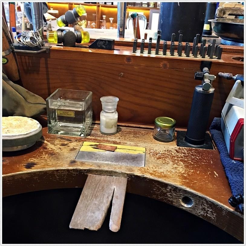 草山金工一日銀匠體驗課程工作桌