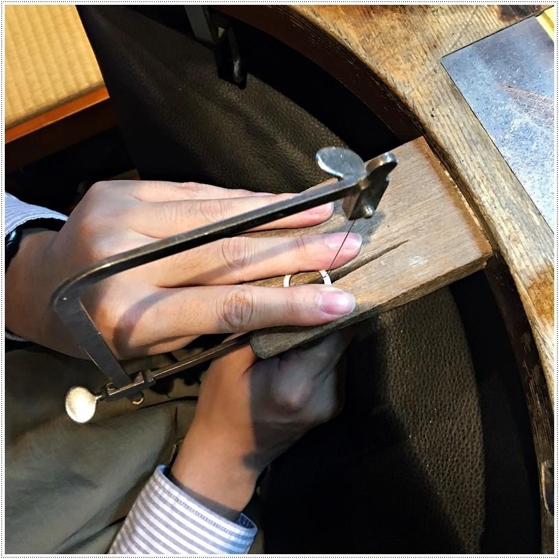 草山金工一日銀匠體驗課程鋸切