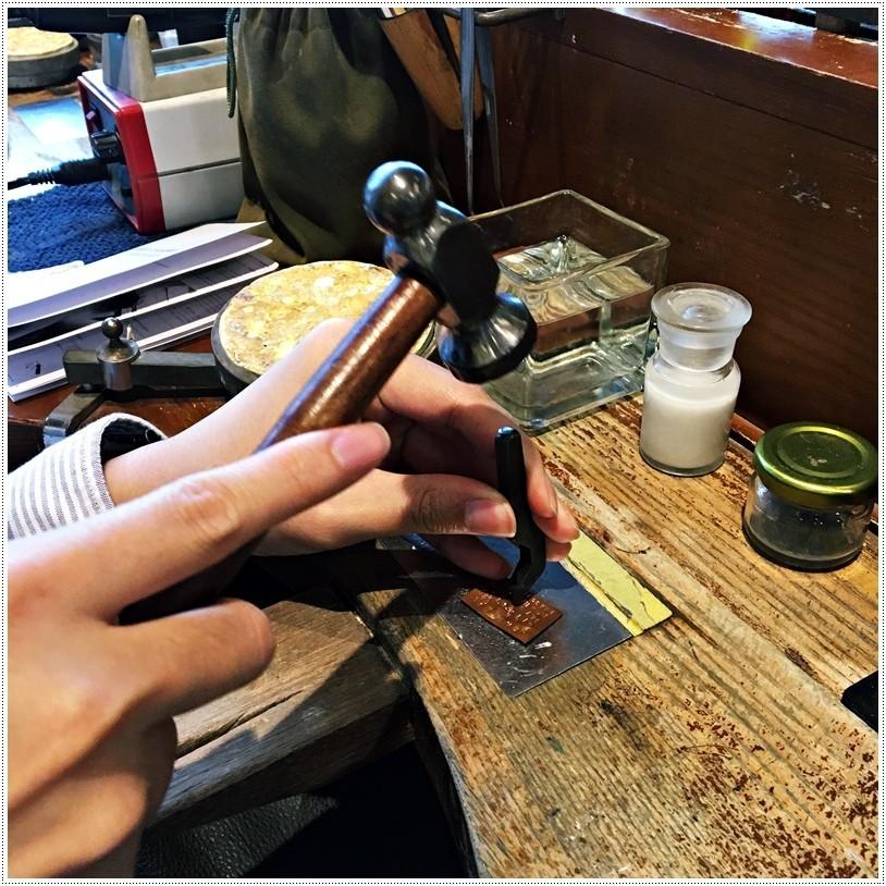 草山金工一日銀匠體驗課程鋼印敲字