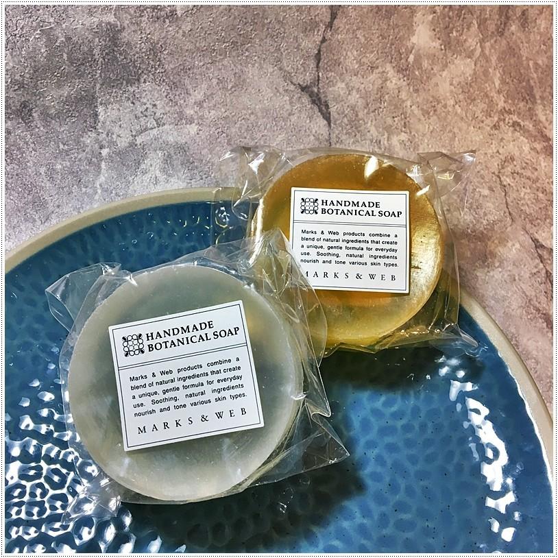 ハンドメイドボタニカルソープオリーブ/スクワランMARKS AND WEB手工植物香皂